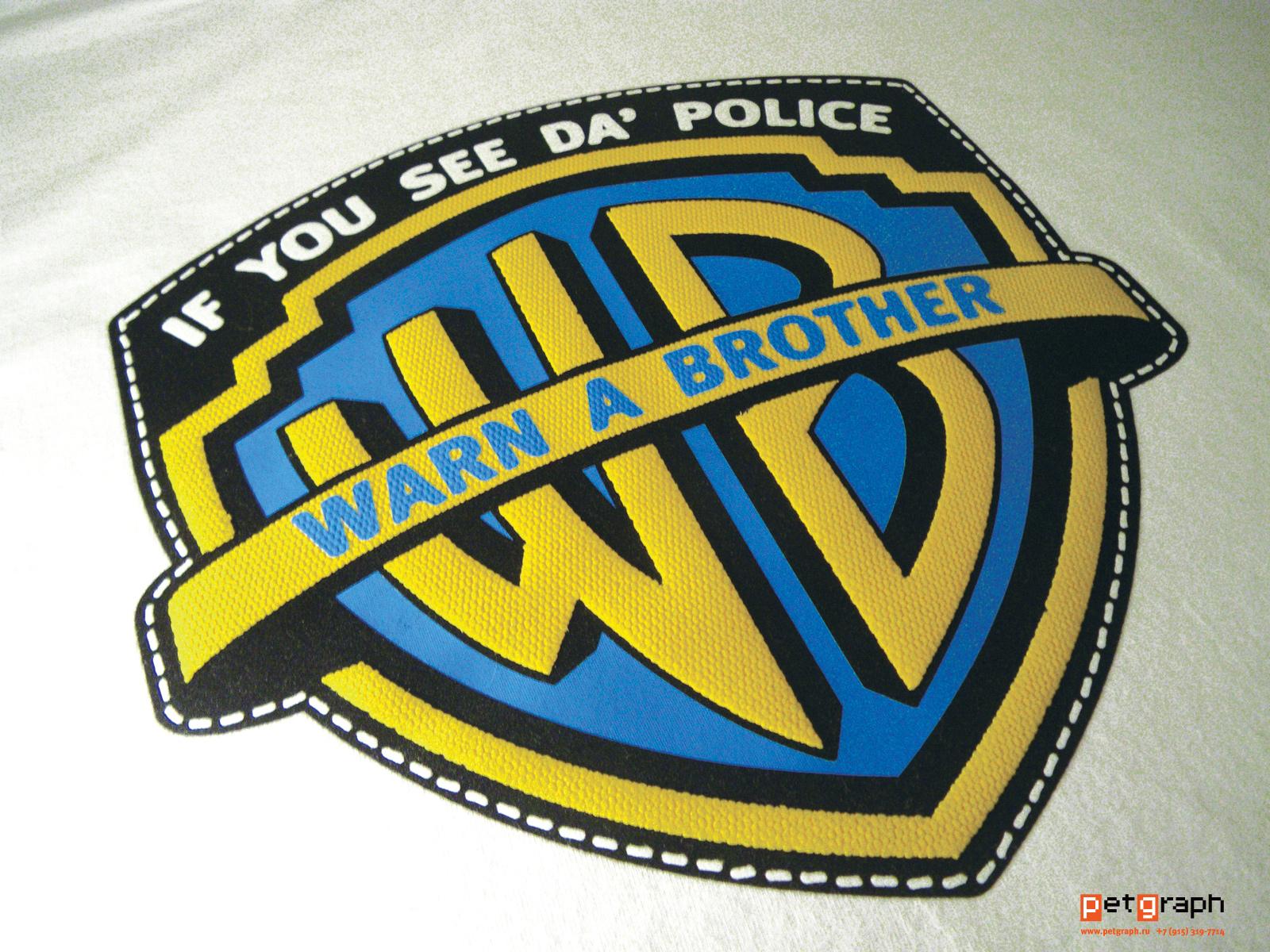 Толстовка Если видишь полицию, предупреди братана. Hoodie If you see da` police warn a brother